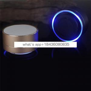 2019 new arrivals Shenzhen hot sale bluetooth Wireless speaker bass mini oem logo with LED flashlight and mic