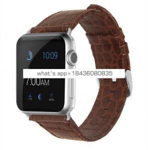 38mm 42mm Crocodile Replacement Strap Leather Watch Band for iWatch Apple Watch Series 3
