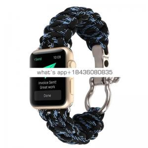 38mm 42mm Durable Bracelet Replacement Rescue Ropr Nylon Strap Band for Apple Watch Series 3