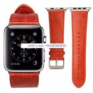 38mm 42mm First Layer Cowhide Genuine Leather Wristband Watch Band for iWatch 3 Apple Bands