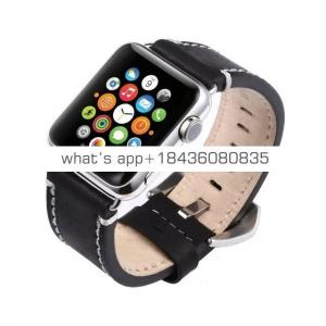 38mm 42mm Strap Replacement Crazy Horse Pattern Leather Band with Adapter for Apple Watch iWatch Series 3 Band