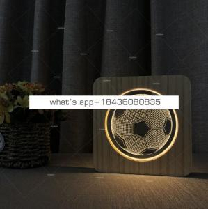 3D Wooden Lamp Kids c Decoration USB LED lamp for Children Gift