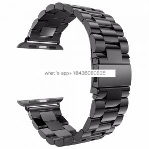 4 Colors 3 Links Stainless Steel 38mm 42mm Bracelet Strap Classic Buckle Watch Bands for Apple Watch iWatch Series 3