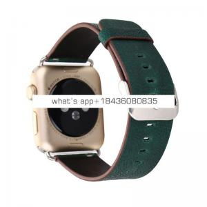 6Colors 38mm 42mm Classic Original Genuine Strap Leather Wristband Replacement for Apple iWatch 3