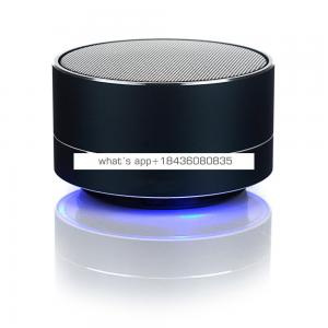 Aluminum Alloy A10 Wireless Car Speaker with Led Light Waterproof Handfree Portable Mini Speaker with FM Radio TF USB Support
