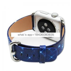 Amazing Design 38mm 42mm Leather Wrist Band Strap for Apple Watch with Adapter