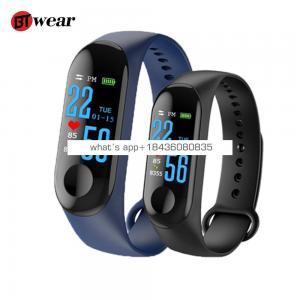 BTwear M3 Fitness Bracelet Men Women smart band Color-screen IP65 Waterproof blood pressure Monitor sports Heart Rate pk mi band