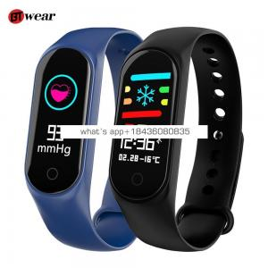 BTwear M3S Smart Bracelet Color-screen IP67 Fitness Tracker blood pressure Heart Rate Monitor Smart band For Android IOS phone