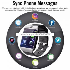 Bluetooth Smart watch 2018 men smartwatch android with TF SIM camera for iphone