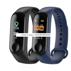 Ce Rohs bluetooth Sport Pedometer Fitness Blood Pressure M3 Bracelet Smart Watch