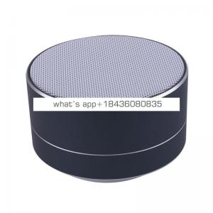 Custom logo A10 wireless speaker metal mini portable subwoof sound with Mic TF card