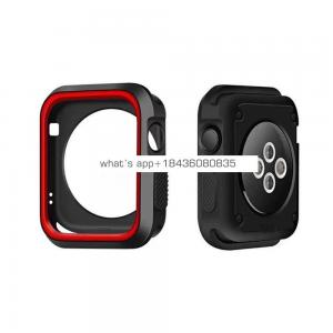 Dual Color Silicon Cover for Apple Watch Series 38mm 42mm