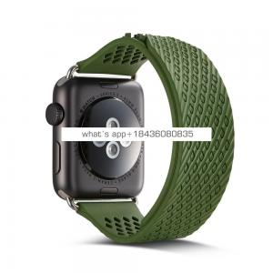Embedded without Buckle Silicone Strap Band for Apple Watch Series 3 Sport