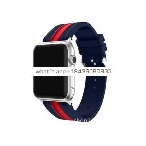 Fashion Dual Color Silicone Strap Band for Apple Watch Series 3