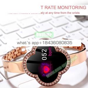 Fashion Jewelry Buckle S6 Waterproof Fitness Tracker Smart Watch Bracelet for Women
