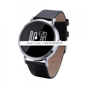 Fitness monitor ios android smartwatch for men and women genuine leather strap reloj inteligente smart watch China supplier