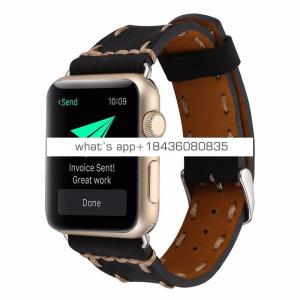 For Apple Watch Series 3 Band,Leather 38 42mm Strap for Apple Watch 3 Sport