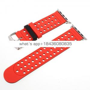 For Apple iWatch Double Color Sport Silicone Strap Band