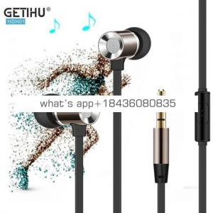 High Quality Insurance In-Ear Micro Wire Metal Earphone Headset Super Bass Earbuds for Iphone7/7plus