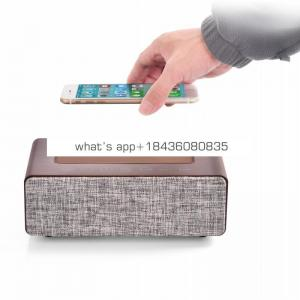Home speaker qi wireless charger Pad Music surround subwoofer speaker for Iphone 8