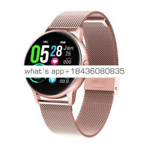 IP68 Waterproof Health Heart Rate Blood Pressure Fitness Tracker Stainless Steel Band Touch Color Screen Smart Watch