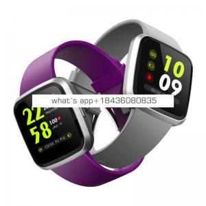Leather Smart Bracelet Wristband Heart Rate Blood Oxygen Sleep Monitor Fitness Tracker Smart Band with SPO2 Bracelet