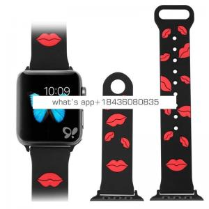 New Sport Silicone Rubber Red Lips Strap for Apple Watch Series 1 2 3 4
