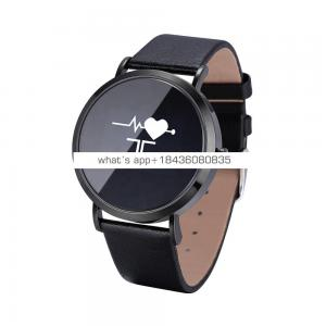 New arrival cheap round touch screen unisex fitness tracker smart watch heart rate monitor bluetooth