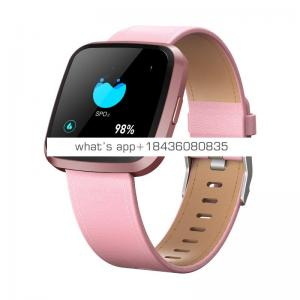 New design smart watch with  leather belt and Heart Rate Blood Oxygen Sleep Monitor Fitness Tracker Smart Band with CE,ROHS,FCC