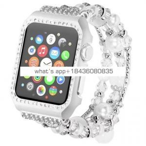 New products jewelry diamond with frame for iWatch band strap 42mm