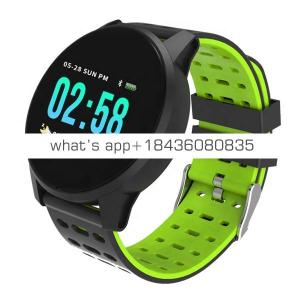 OEM IP68 Waterproof Heart Rate Smart Wrist Blood Pressure Monitoring Sport Smart Watch W1 Bluetooth Fitness Tracker Watch