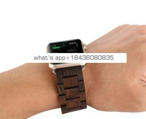 OEM LOGO 42mm 38mm Sandalwood Strap with Adapter Bracelet Wooden Wrist Band for Apple Watch iWatch Series 3