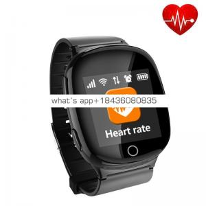 SOS Panic Button Adult Kid Elder People Heart Rate Monitor GPS Tracking  Tracker Smart Watch