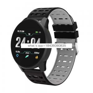 Silver Metal Magnet leather strap touch screen smart watch heart rate monitor activity tracker new product ideas