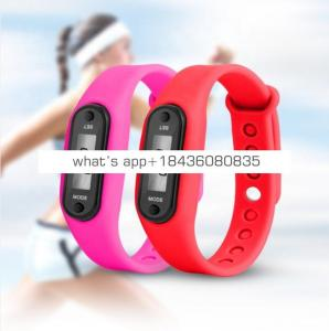 Super Hot Selling Pedometer gift count step calorie fitness tracker with silicone band