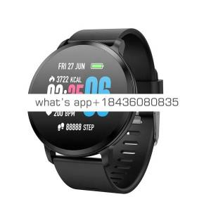 V11 Smart Watch 1.3 Inch 240*240 Tempered Glass Screen IP67 Waterproof Heart Rate Monitoring Blood Pressure Band for Men Women