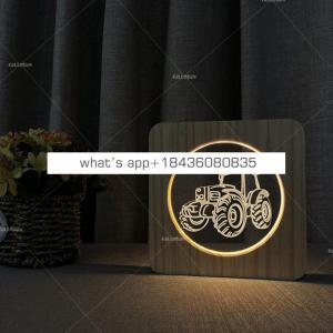Wholesale earthmover Wood Table Lamp Wood Base Led Desk Lamp