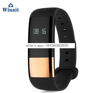 Winait M4 smart bracelet with Low voltage reminder calls,SMS,Wechat,QQ Curved touch screen