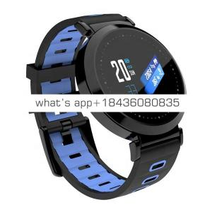 "Y10 Smart Watch Bracelet 0.96"" Round Colord-Screen Heart Rate Blood Pressure Sleep Monitor IP67 Waterproof Fitness Tracker"
