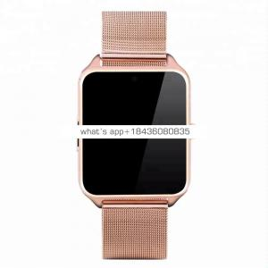 Z60 Bluetooth Smart Watch Stainless Steel Strap Call SMS Reminder Sleep Monitor Pedometer Support SIM TF Card for Android Phone