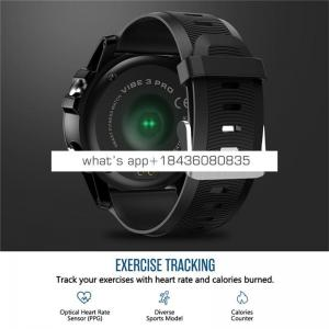Zeblaze VIBE 3 Pro Smart Watch Real-time Weather Heart Rate Monitor All-day Tracking Sports Smartwatch