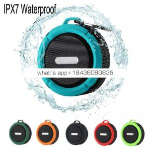 waterproof mp3 player C6 IP65 Waterproof Wireless Blue tooth Speakers Waterproof for Outdoor Indoor and Use in shower for iphone