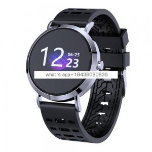 weather forecast compatible android and ios fashion smart metal bracelet watch touch screen fitness tracker sedentary reminder